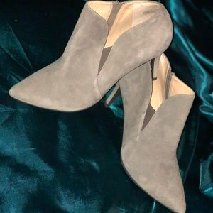 Genuine suede grey booties